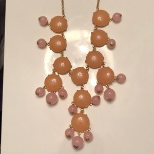 Jewelry - Pink/peach beaded chandelier necklace
